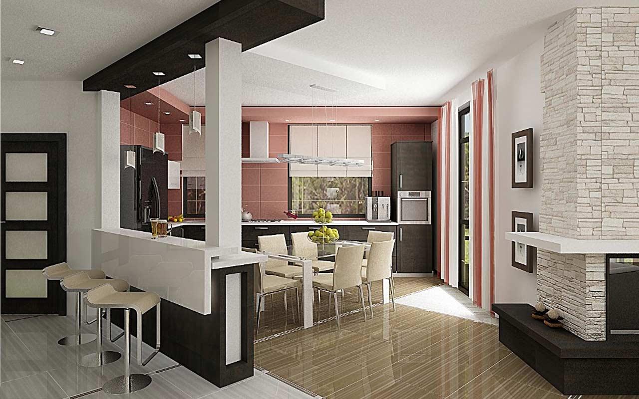 Дизайн ремонт кухни-столовой